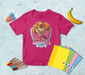 SKYLE Paw Patrol Personalized Name T-shirt TS296