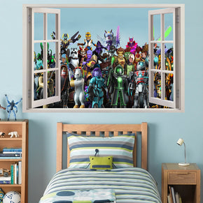 ROBLOX 3D Window Wall Sticker Decal W128