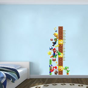 Super Mario Bros Characters Growth Height Chart for Kids Decal Wall Sticker WC100