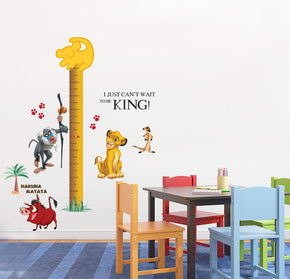 Lion King Simba Growth Height Chart for Kids Decal Wall Sticker WC102