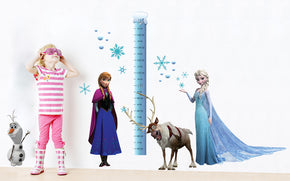 Frozen Growth Height Chart for Kids Decal Wall Sticker WC104