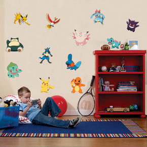 Pokemon Set Characters Wall Sticker Decal WC132