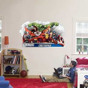 The Avengers Superheroes Personalized Custom Name Wall Sticker Decal WC141