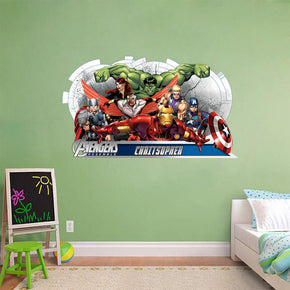 Kids Super Hero Personalized Custom Name Wall Sticker Decal WC141