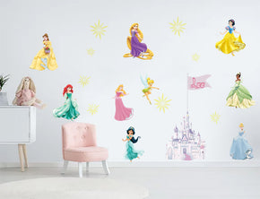 Disney Princess Set PERSONALIZED Custom Name Wall Sticker Decal WC142