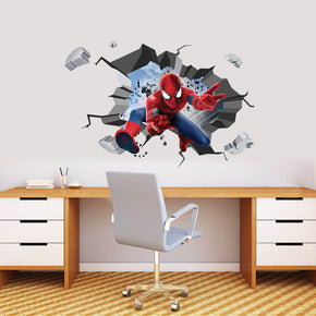 Spider-Man 3D Explosion Effect Wall Sticker Decal WC165