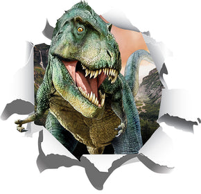 Dinosaur Tyrannosaurus Rex 3D Torn Paper Effect Wall Sticker Decal WC215