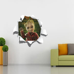 GROOT Guardians Of The Galaxy 3D Torn Paper Style Wall Sticker Decal WC225