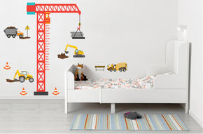 Crane Growth Height Chart for Kids Decal Wall Sticker WC254