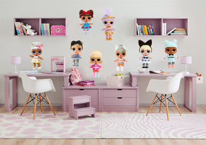 LOL SURPRISE Dolls Set Wall Sticker Decal WC291
