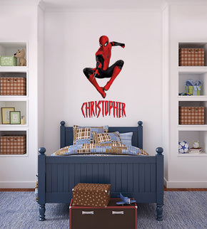 Spider-Man Super Hero Personalized Custom Name Wall Sticker Decal WC292