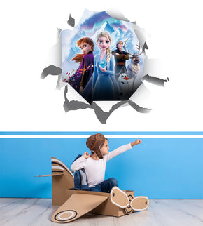 Frozen 3D Torn Paper Effect Wall Sticker Decal WC304