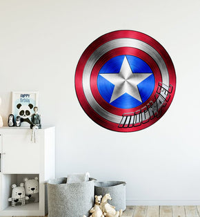 Captain America Shield Personalized Custom Name Wall Sticker Decal WC335