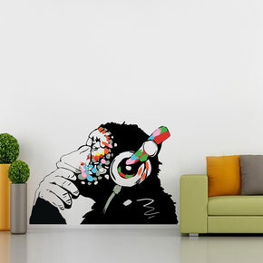Banksy Thinking Monkey Graffiti Street Art Wall Sticker Decal WC365