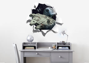 Star Wars Ships Millennium Falcon 3D Torn Paper Wall Sticker Decal WC366