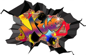 Graffiti Personalized Custom Name Wall Sticker Decal WC78