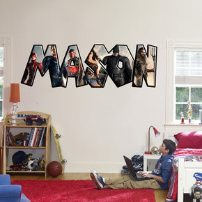 Super Hero Personalized Custom Name Wall Sticker Decal WP01
