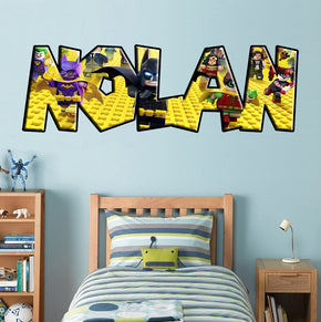 Lego Batman Personnalisé Custom Name Wall Sticker Décalque 018