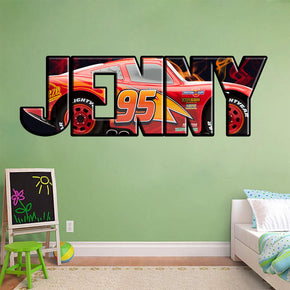 Lightning Mcqueen Personalized Custom Name Wall Sticker Decal WP10
