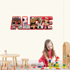lol Dolls Personalized Custom Name Wall Sticker Decal WP124