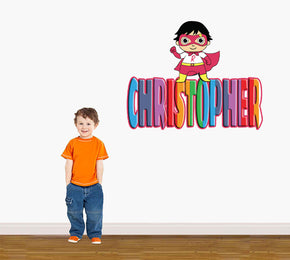 Kids Show Personalized Custom Name Wall Sticker Decal WP127