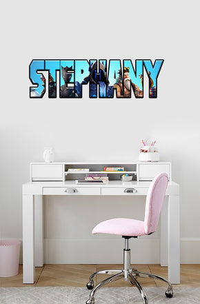 Fortnite Personalized Custom Name Wall Sticker Decal WP138