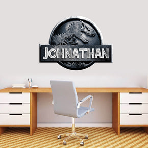 Jurassic World Personalized Custom Name Wall Sticker Decal WP15
