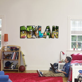 Minecraft Personalized Custom Name Wall Sticker Decal WP160