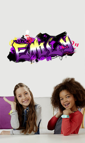 Kids GRAFFITI Personalized Custom Name Wall Sticker Decal WP165