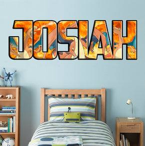 CHARIZARD Pokemon Personalized Custom Name Wall Sticker Decal WP203