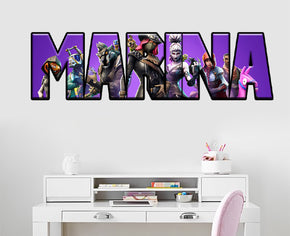 Fortnite Personalized Custom Name Wall Sticker Decal WP257