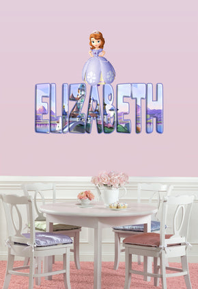 Sofia The First Personalized Custom Name Wall Sticker Decal WP43