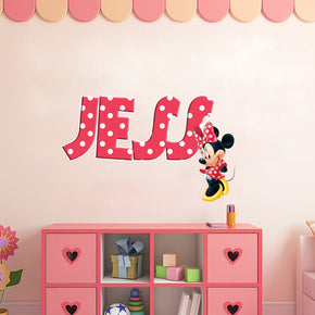 Minnie Mouse Personalized Custom Name Wall Sticker Decal WP51