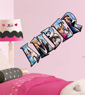Frozen Personalized Custom Name Wall Sticker Decal WP80