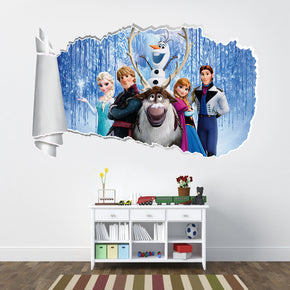 Frozen 3D Torn Paper Hole Ripped Effect Decal Wall Sticker WT27