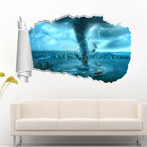 Tornado Storm 3D Torn Paper Hole Ripped Effect Decal Wall Sticker