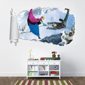 Frozen 3D Torn Paper Hole Ripped Effect Decal Wall Sticker WT53