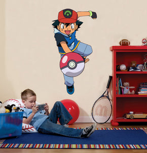 ASH KETCHUM Pokemon Wall Sticker Decal C352