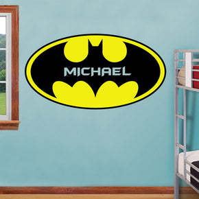 Super Hero Personalized Custom Name Wall Sticker Decal