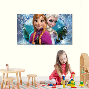 Elsa And Anna Frozen Canvas Print Giclee CA04