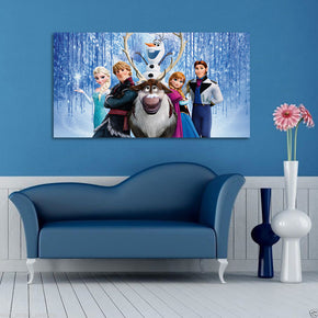Frozen Group Canvas Print Giclee