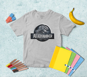 Jurassic World Dinosaur Personalized Name T-shirt TS025