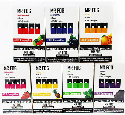 Mr Fog Pods - Pineapple, Lush Ice, Mint, Sour Apple, Mango Flavors