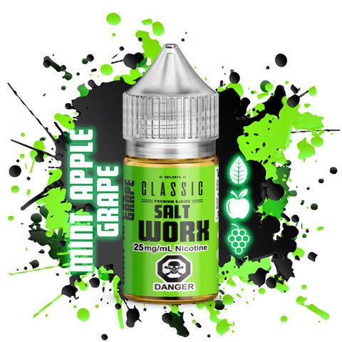 Premium E-Liquid - SaltWorx - Mint Apple Grape