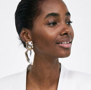 Stella Irregular Geometric Drop Earrings