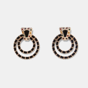 Coco Round Chain Earrings