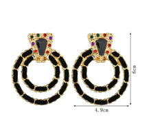 Load image into Gallery viewer, Coco Round Chain Earrings