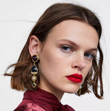 Load image into Gallery viewer, Zabel Long Drop Earrings