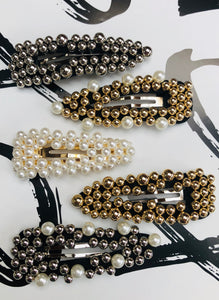 Katerina Large Beads Hair Clips