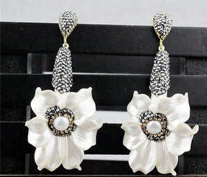 Fleur Gemstone Drop Earrings
